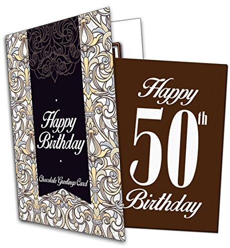 Happy 50th Birthday - Unique Chocolate Greeting Card