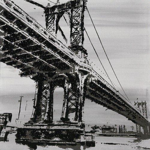 Lienzo puente vidrio pilé 80x 80