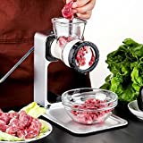 Manual Meat Grinder with Defrosting Tray, Apore Aluminium Alloy Garlic Crusher Nuts Chopper