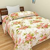 Cloud Mart Microfiber Red Bunch Flower Print Double Bed Dohar/AC Blanket