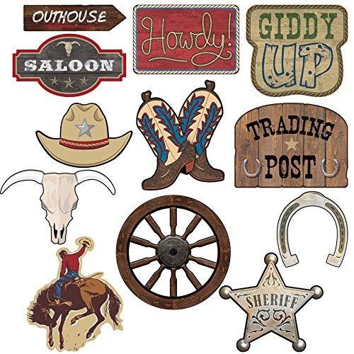 "Raumdeko ""Howdy Cowboys"" 12-tlg."