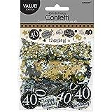 Amscan 36018634G Gold Celebration 40. Konfetti