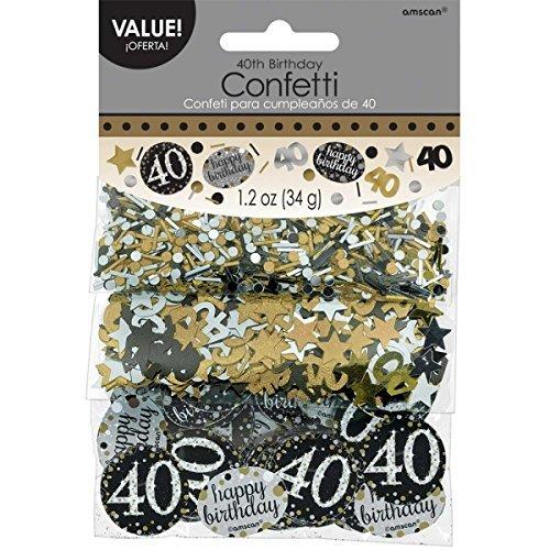 Amscan 36018634G Gold Celebration 40. - Dekoration Halloween-tisch