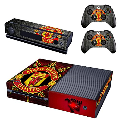 Manchester United Xbox One Skin Sticker Vinyl Aufkleber Schutzfolie zum Konsole & 2 Controller - One Xbox Controller-manchester