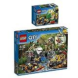 Lego CITY 2er Set 60161 60156 Dschungel-Forschungsstation + Dschungel-Buggy