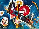 Vassily Kandinsky Poster Papier Peint Autocollant - en Bleu, 1925, 2 Parties (240 x 180 cm)