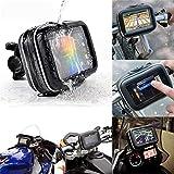 Resistente al agua Soporte para bicicleta, Universal para bicicleta manillar teléfono, 5pulgadas bicicleta motocicleta gps impermeable bolsa con soporte de manillar de moto soporte caso