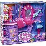 Mattel Barbie BHM95 - Die magischen Perlen Meerjungfrauen Salon, Spielset mit viel Zubehör