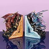 Fantasy Paar Dragon Rot & Blau Buchstützen