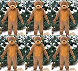 6 x Teddy Bär Gruppenkostüm Karnevalskostüm Fastnacht Fasching Karneval Kostüm Faschingskostüm Junggesellenabschied Maskottchen Apres Ski Bärenkostüm Party M / L Gruppe Rosenmontag Verein