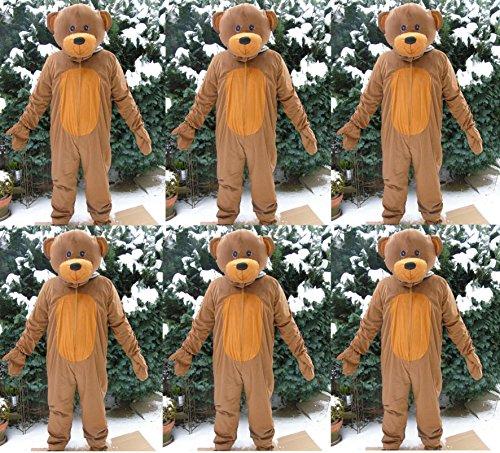 6 x Teddy Bär Gruppenkostüm Karnevalskostüm Fastnacht Fasching Karneval Kostüm Faschingskostüm Junggesellenabschied Maskottchen Apres Ski Bärenkostüm Party M / L Gruppe Rosenmontag ()