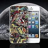PHONE BOX Super Héros Comic Book Marvel DC Coque Apple iPhone Compatible avec iPhone 6-6S Coque Blanc