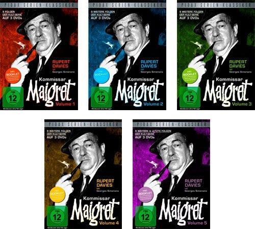 Kommissar Maigret Vol. 1 + 2 +3 + 4 + 5 - Komplettbox / 45 Folgen auf 15 DVDs (Pidax Serien-Klassiker)