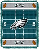 NFL Philadelphia Eagles Field Woven Jacquard Baby Throw Blanket, 36x46-Inch