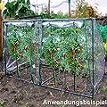 Gewächshaus PVC-Folie 190x89x50/90cm grün Tomatenhaus Treibhaus Beet Pflanzen von Linder Exclusiv GmbH bei Du und dein Garten