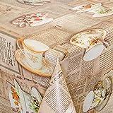 ANRO Wachstuch abwaschbare Tischdecke Küche 220 x 140cm