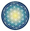 SPIRIT OF AVALON Energie Untersetzer - Blume des Lebens - 5er Set - Meditation Yoga Spiritualität Esoterik