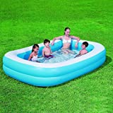 Bestway New Deluxe 2 Tier Family Inflatable Rectangular Paddling Swimming Pool