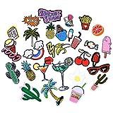 Patch Sticker,Fascigirl 30 Stk DIY Kleidung Patches Zum Aufbügeln Für T-Shirt Jeans Hut Dekor Taschen (Sortierte Farbe)