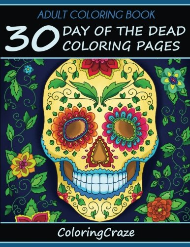 Pdf Book Adult Coloring Book 30 Day Of The Dead Coloring