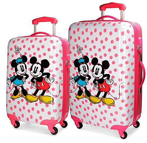 Set 2/Trolley Abs 55/68cm.4r.Mickey & Minnie Dots