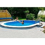 MYPOOL Set (6-tlg.): Ovalpool Premium inkl. Sandfilteranlage (in 6 Größen) 360 cm, 623 cm, 120 cm