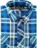 Dalsa, camicie da lavoro da uomo, stile taglialegna, in flanella di cotone spazzolato, fantasia a quadri, a maniche lunghe Design 6 X-Large