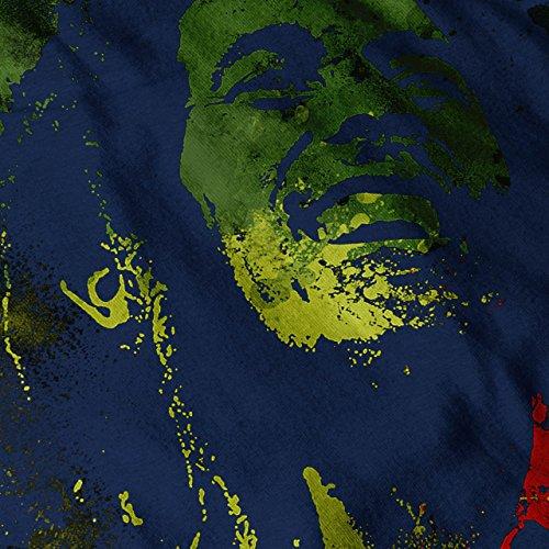 Legende Rasta Bob Marley Rasta Leben Damen S-2XL Muskelshirt | Wellcoda Marine