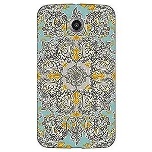 Jugaaduu Vintage Floral Pattern Back Cover Case For Google Nexus 6