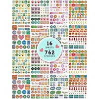 Planner Stickers Value Pack, Monthly Weekly Daily Planner Colorful Sticker for Planner Calendar Journal Scrapbook Agendas - 16 Sheet