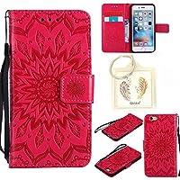 """für Iphone 6s (4,7"""") Geprägte Muster Handy PU Leder Silikon Schutzhülle Handy case Book Style Portemonnaie Design für Apple Iphone 6s (4,7"""") + Schlüsselanhänger(456)"""