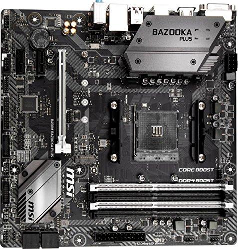MSI B450M Bazooka Plus, Sockel AM4, DDR4, HDMI, DVI-D, 1x M.2, 8x USB 3.1 Gen1 Micro-ATX Mainboard