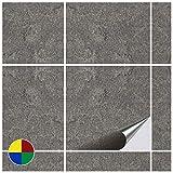 FoLIESEN Fliesenaufkleber 15x15 cm - Fliesen-Folie Bad - Klebefolie Küche - Dekor Stone No.2-200 Klebefliesen