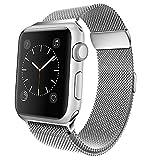 jwacct kompatibel Für Apple Watch Armband 42mm Milanese Edelstahl Metall Ersatz Uhrband Sport Uhrenarmband für Apple Watch iWatch Series 3, Series 2, Series 1 Silber