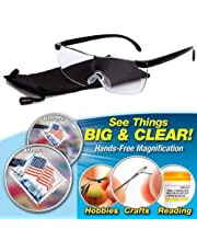 4fe216718414 Instakart Big Vision Pro Unisex Magnifying Glasses Eyewear- See Things Big  and Clear! Unisex