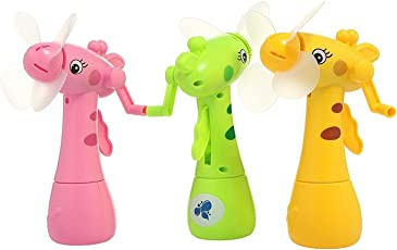 Magicwand Eco-Friendly Deer Shaped Hand Driven Mist Spray Fan (Pack of 2)