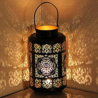 albena shop 71-4737 Jasum garden lantern 30cm metal paisley design