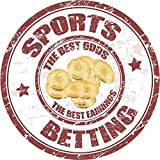 Sports Betting Best Earnings Hochwertigen Auto-Autoaufkleber 12 x 12 cm