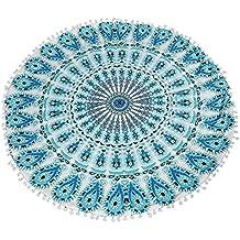 Cuscino Caso, Ouneed® Grande Cuscino Cover Mandala Floor Cuscini Rotondi Bohemian Meditazione Copertura Ottomana Pouf,,80*80cm