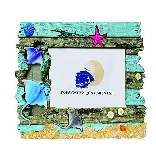 Rockin Gear Bilderrahmen-Echter Treibholz Handbemalt und Handgefertigt Bilderrahmen-ist 10,2x 15,2cm Zoll Print Stingray