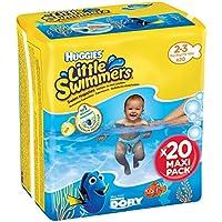 Huggies Little Swimmers - Bañadores desechables, Talla 2-3 (3-8 kg), 20 unidades