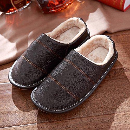 anti femminile spesso pantofole pantofole inverno slip coppia caffè2 di DogHaccd con home cotone maschile invernali Il interno pacchetto scarpe Il 0qwxR8O