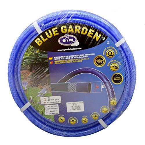 "S&M 553028 Manguera de jardinería Reforzada Blue Garden 25 Metros, Azul, Rollo 15 x 20 mm-(5/8\"")"