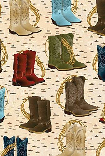 Toland Home Garden Country Stiefel Garten Flagge, Textil, braun, Größe S (Stiefel Dancing Cowboy)