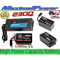LiPo Battery For PARROT AR.DRONE 2.0 & 1.0 Quadricopter Lithium-Polymer 1500mAh 11.1V 20C (DRB 1500mAh Dual Plug)