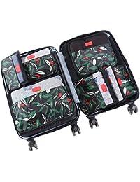 HiDay Sistema de Bolso Organizador de Viaje de 7 colecciones, 3 cubos de embalaje + 3 bolsas + 1 Neceser Organizador