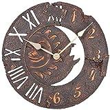 Atlanta Uhren 4475 Quarz Wanduhr 290mm x 55mm Braun-antik
