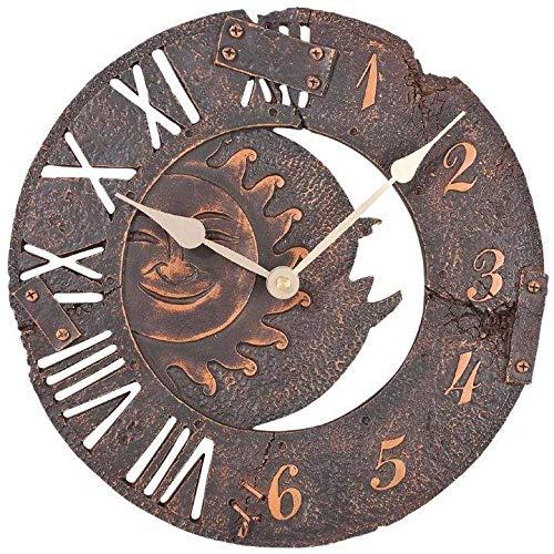 Atlanta Uhren 4475 Quarz Wanduhr 290 mm x 55 mm Braun-antik