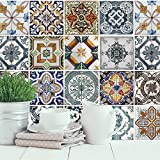 Walplus mediterráneo azulejos autoadhesivo extraíble de