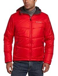 Chaqueta con capucha Shimmer Me Timbers II para hombre, rojo brillante, grande